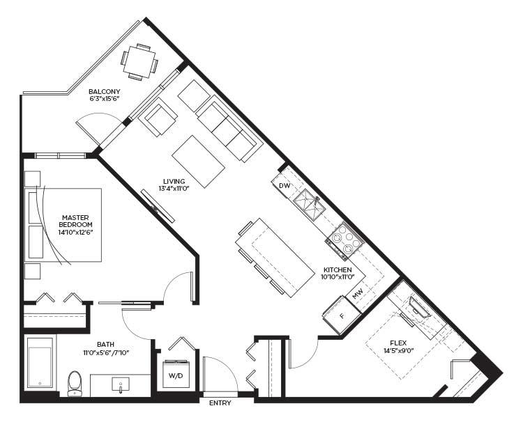 Unit A2 - Floorplan