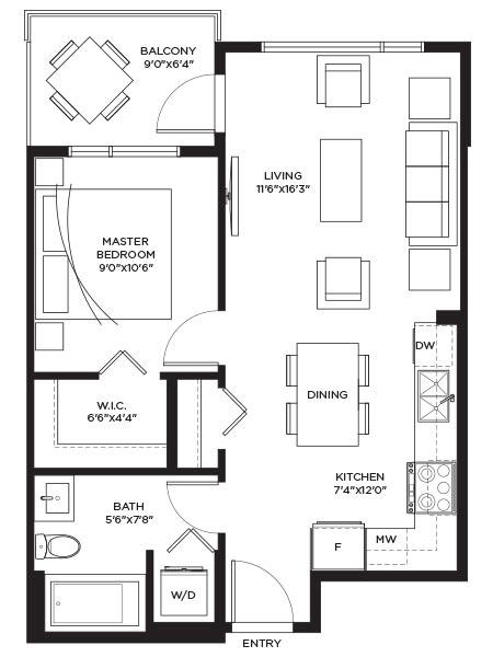 Unit Aa - Floorplan
