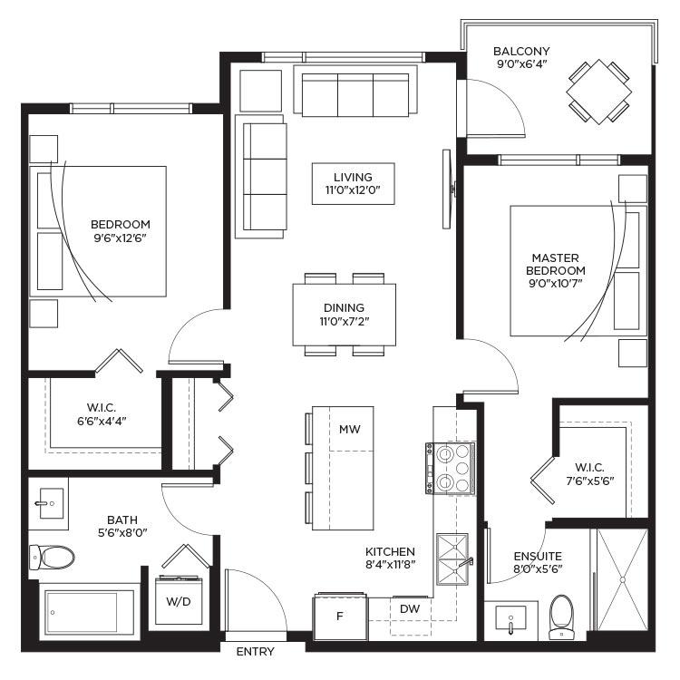 Unit B - Floorplan