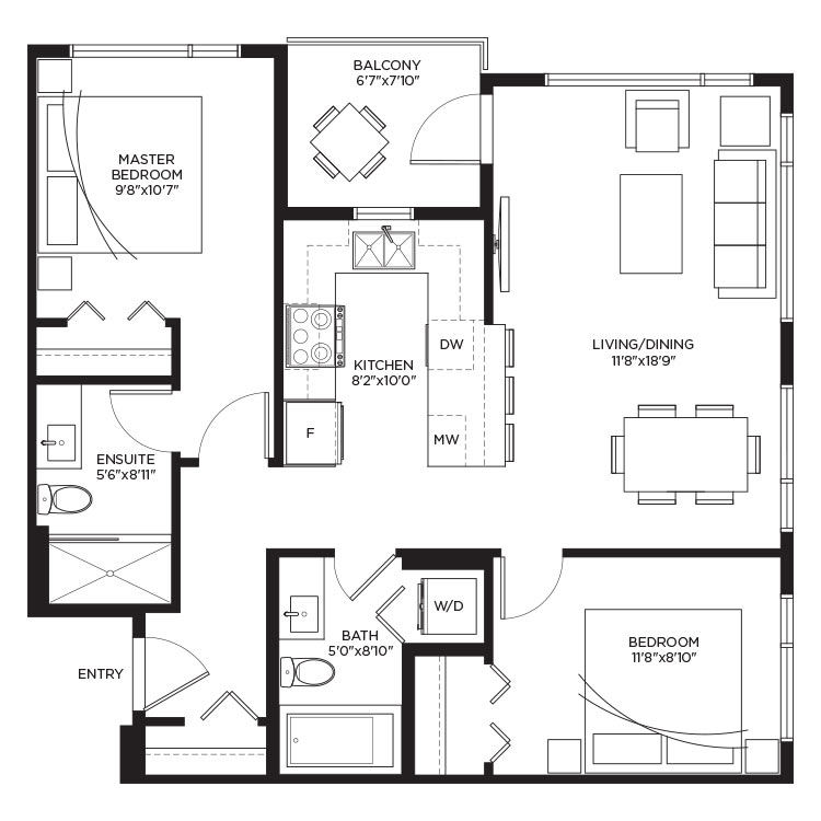 Unit B1 - Floorplan