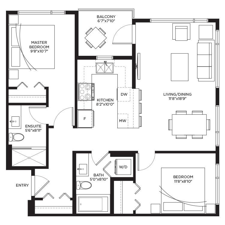 Unit B1a - Floorplan