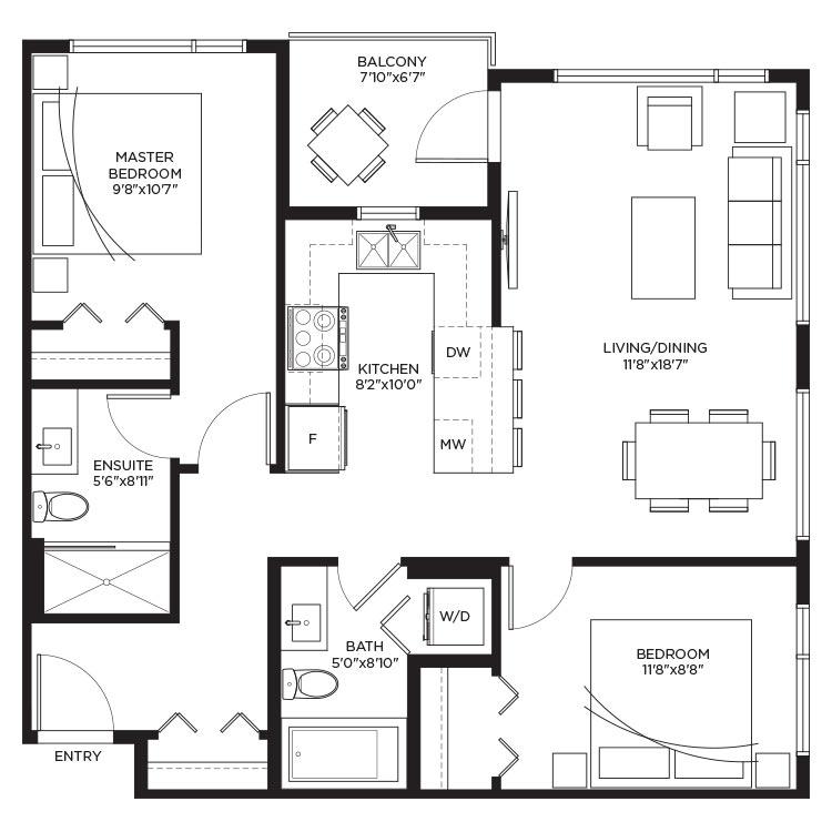 Unit B1c - Floorplan