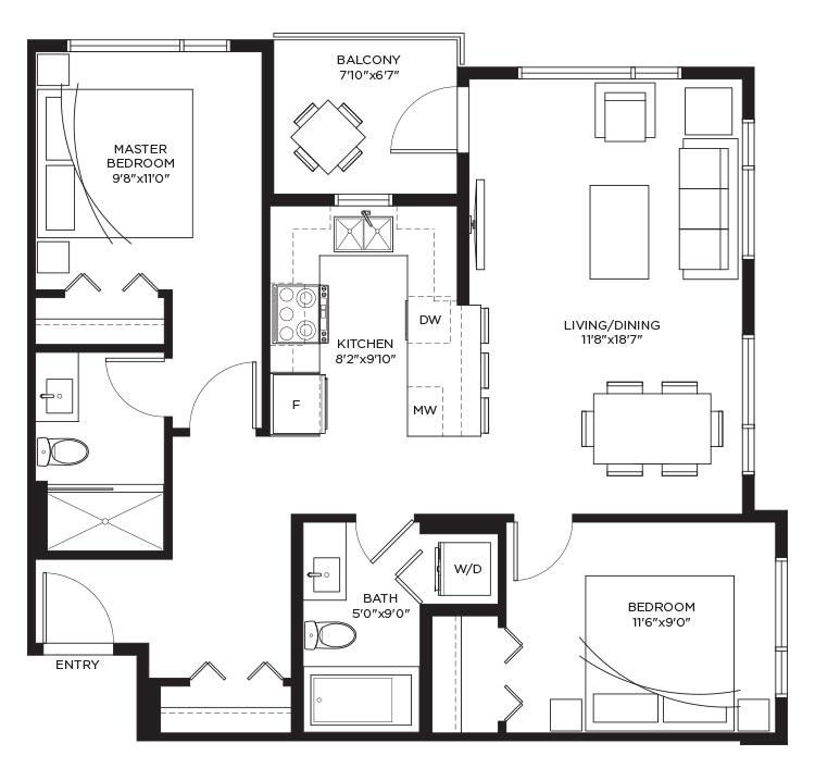 Unit B1e - Floorplan