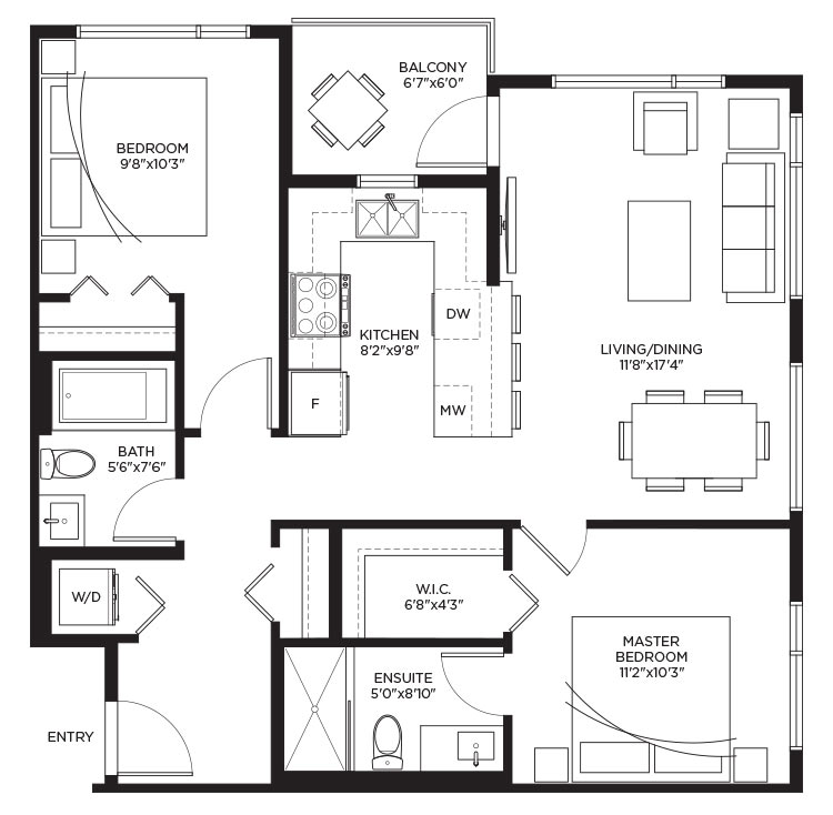 Unit B2a - Floorplan